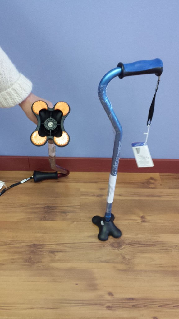 Mobility Aids mini-quad cane